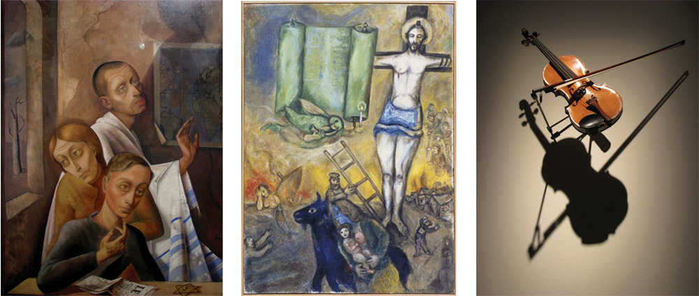 World opening in Germany. The Hidden Trace- Jewish Paths ... Chagall Crucifixion In Yellow