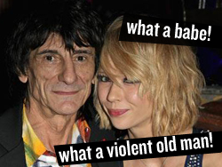 Ronnie Wood Makes a Domestic Incident of Himself.
