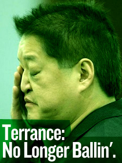 Terrance Watanabe wants to sue you because he gambled his life away.
