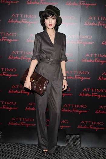 Irina Lazareanu (wearing Ferragamo)