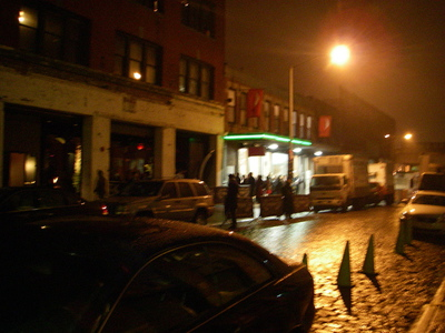 The meatpacking district on any given night.- NYC.