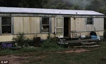 The trailer mobile home where the shooting take place.