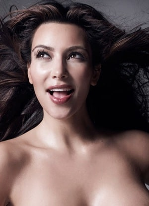 Its time to gawk at naked pictures of Kim Kardashians nipple.