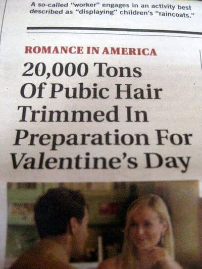 How much did you snip away this Valentine's day?