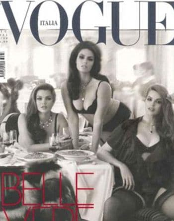 Vogue Italia is now sporting 3 plus size models on its July cover.