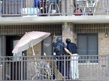 Barricaded perp 1835 Needham Ave Bronx