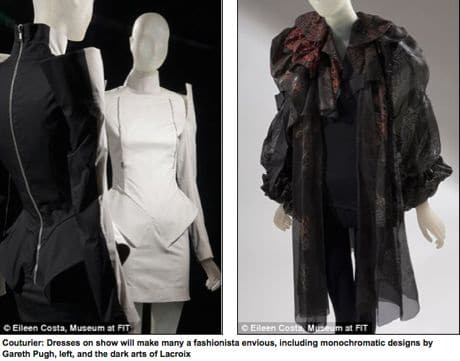 Daphne Guiness will make you jealous when you get round to turning up to her wardrobe exhibit.
