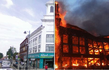 Before and after pictures at London's north. Image sources: theguardian.co.uk