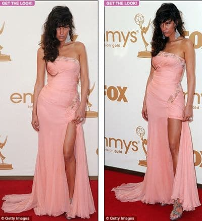 Paz de la Huerta came disguised as a sober drunk at last nights Emmys.