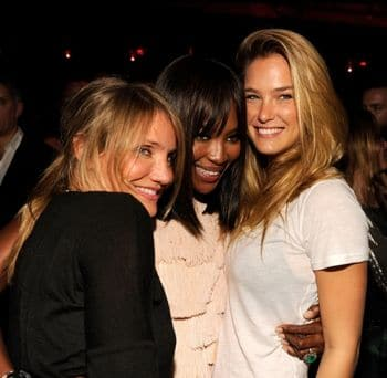 Nothing says more than Studio 54 than your posse of glam actresses and models: Cameron DIaz, Naomi Campbell, Bar Rafael