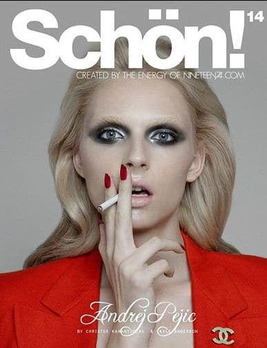 Andrej Pejic has a new fashion mantle: Schön Magazine's Homme Fatale.