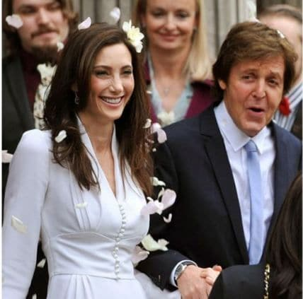 Paul McCartney marries American heiress Nancy Shevell. Say you love me do...