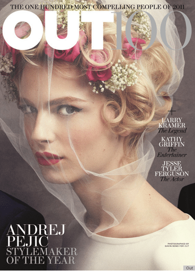 Andrej Pejic is the bride to be. Redefining masculinity...