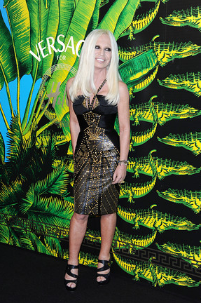 At first recant and then join in. Versace for H&M shows in NYC.