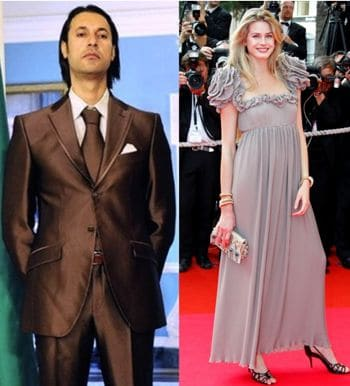 Fashion model sacked after publicly standing by her boyfriend  ex Libyan dictators dead son.