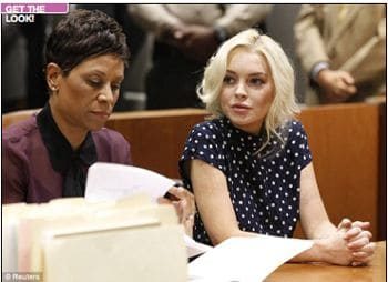 My hero Lindsay Lohan is ordered to go back to jail.