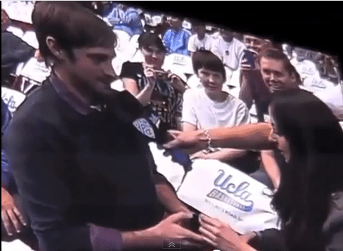 The Wedding proposal that goes wrong in front of a live stadium. Oh the pain...
