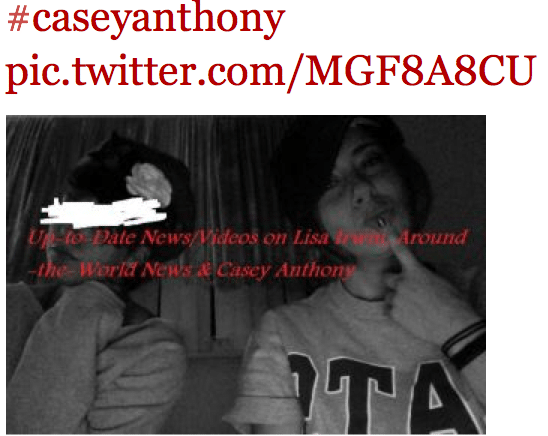 Breaking: Leaks of Casey Anthonys supposed new boyfriend rampant on twitter.