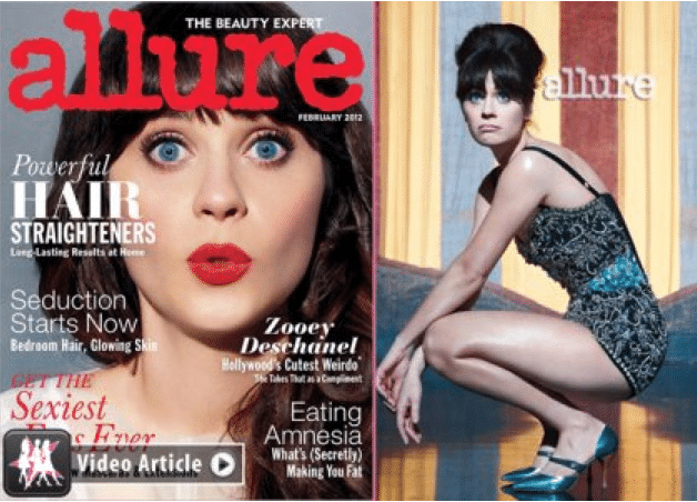 Zooey also besides getting birthday well wishes from the President nailed Allure's February cover, certifying her 'it girl' status. As if there was ever a doubt...