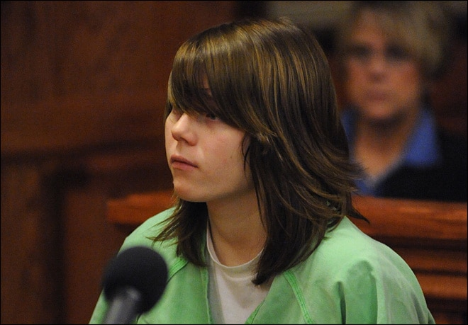 Teenage killer breaks down in court after being sentenced to life for the thrill killing of her 9 year old next door neighbor.