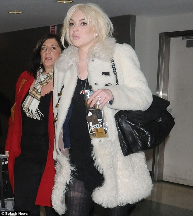 Lindsay Lohan arrives in NYC ready for what promises to be a very busy NY fashion week calendar.
