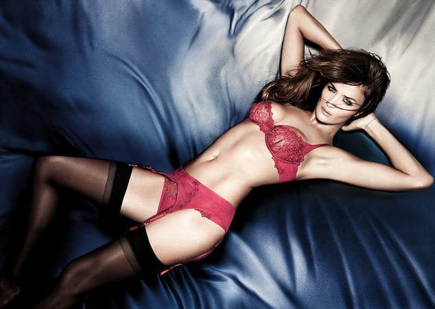 Helena Christensen, in conjunction with Selfridges, poses for Triumph's Essence collection Spring/Summer 2012