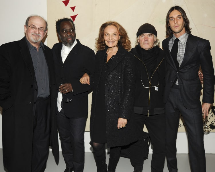 Photos courtesy of Billy Farrell agency. Salman Rushdie, Ouattara Watts, Diane von Furstenberg, Brice Marden, Vladimir Roitfeld