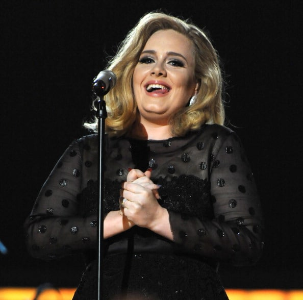 LOS ANGELES, CA - FEBRUARY 12:  Adele performs onstage at The 54th Annual GRAMMY Awards at Staples Center on February 12, 2012 in Los Angeles, California.  (Photo by Kevin Mazur/WireImage)