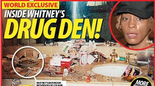 Whitney Houston's bathroom sink