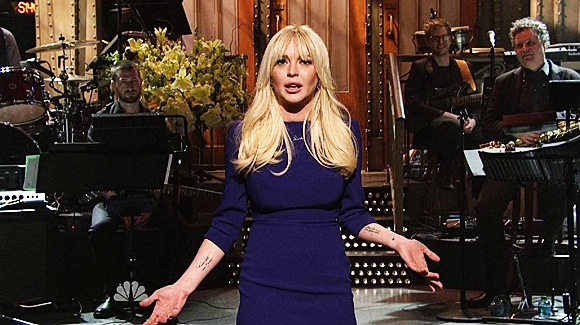 Lindsay Lohan on Saturday Night Live.