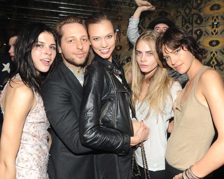 All photos via Billy Farrell agency. Hawt bixches from left to right: Emily Weiss, Derek Blasberg, Karlie Kloss, Cara Delevigne, Arizona Muse