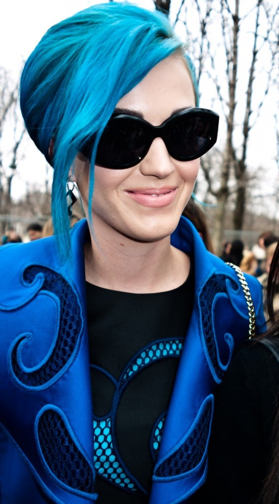 Katy Perry Wears a Classic Bun at YSL Fashion Show