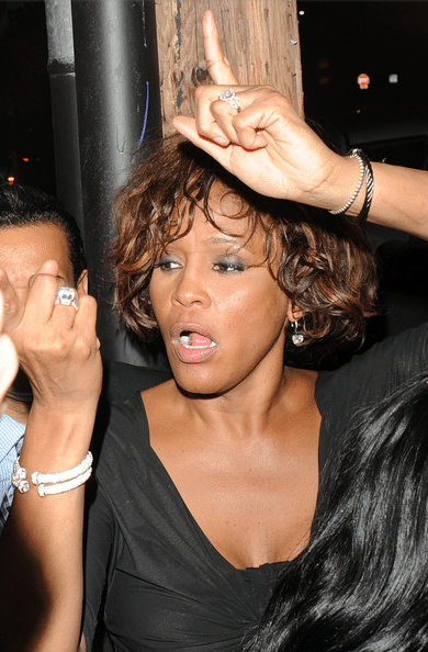Whitney Houston days before she died on a binge. Image via zimbio
