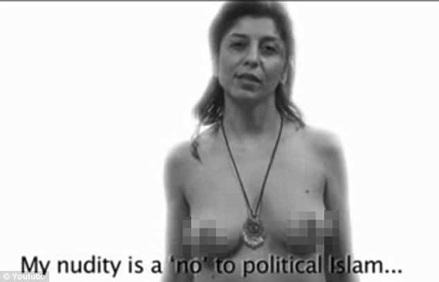 Video: Exiled Iranian women pose nude to protest against sexual oppression.