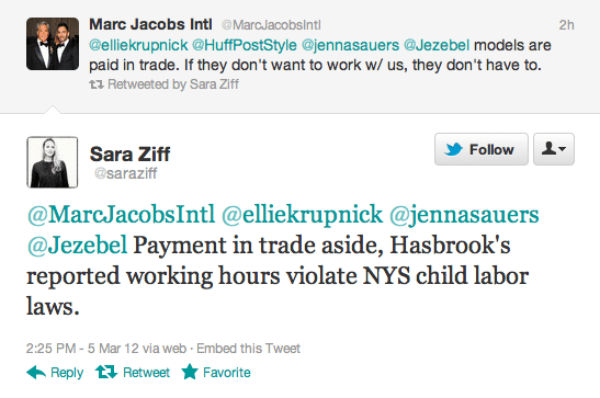 Marc Jacobs  please do us all a favor and pay your models!