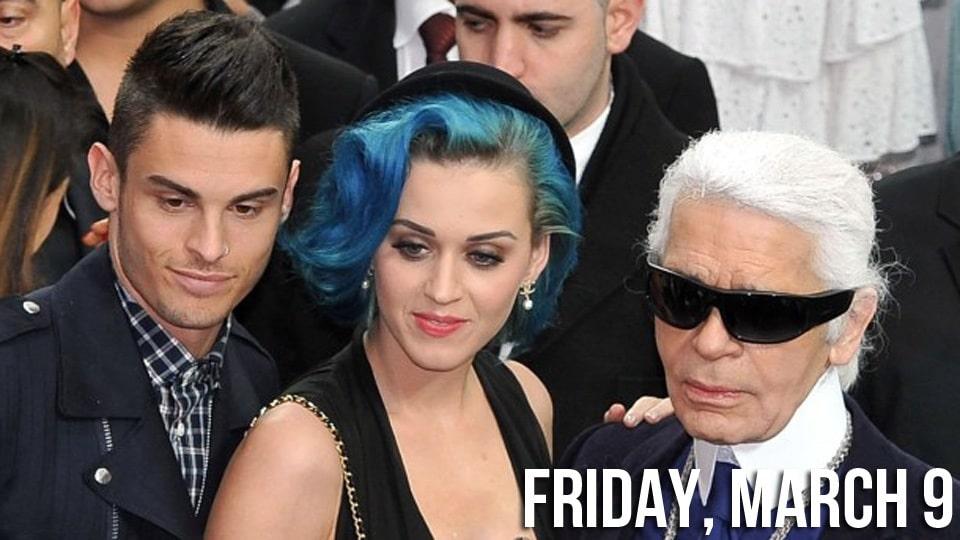 Baptiste Giabiconi, Katy Perry and Karl Lagerfeld. Image via jezebel.