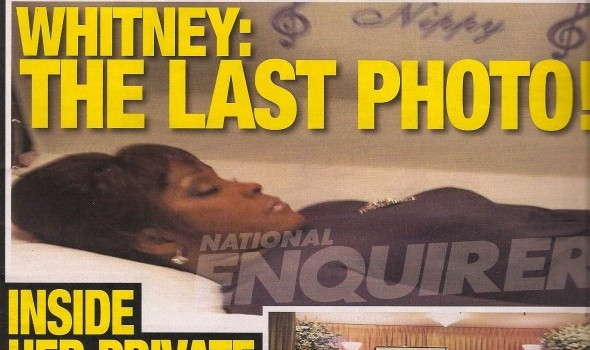 Whitney Houston Open casket photo