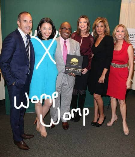Ann Curry rumored to be fired because her co host Matt Lauer hates her guts.