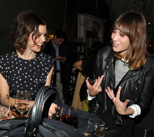 Images via Getty. Actress Nora Zehetner and TV personality Alexa Chung
