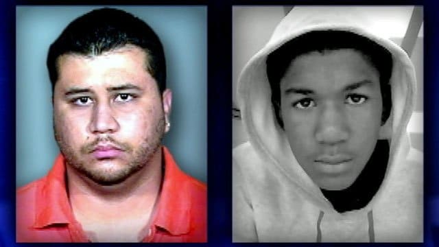 George Zimmerman and Trayvon Martin.