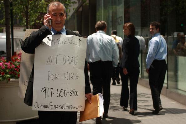 Unemployed. Image via zimbio