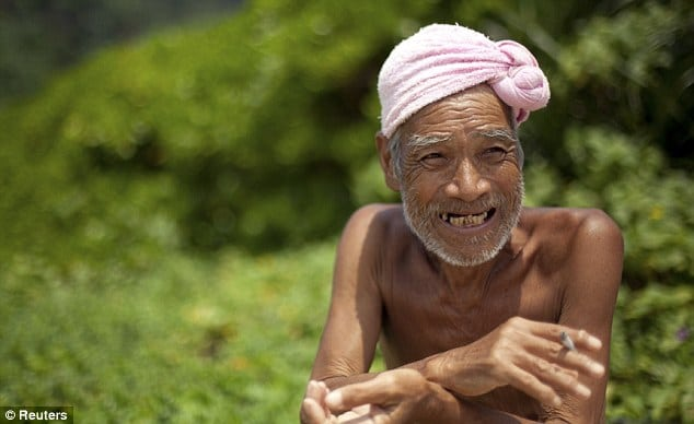Japanese Hermit living his last years of his life in naked bliss