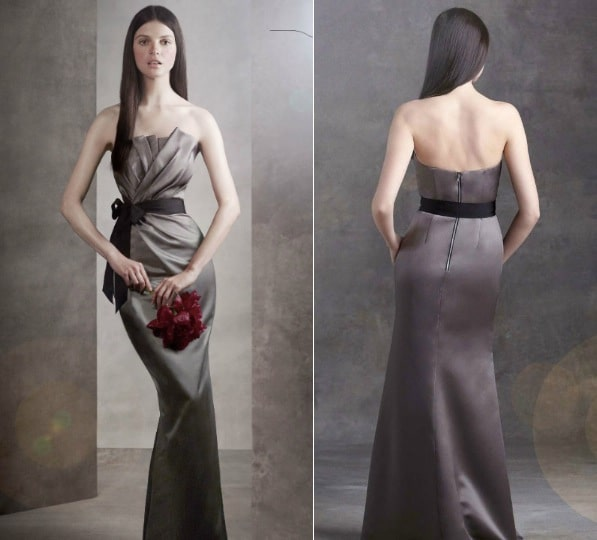 Have you tried fitting into this Vera Wang?