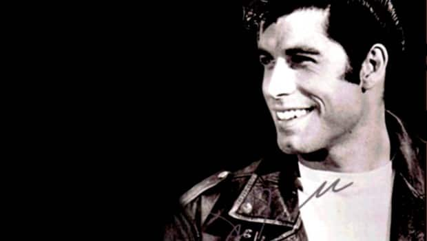 John Travolta during the filming of Grease.