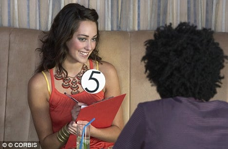 On speed dating now allows guys to meet skinny chicks, almost....