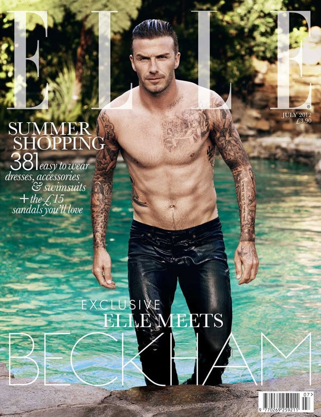 David Beckham for Elle UK cover.