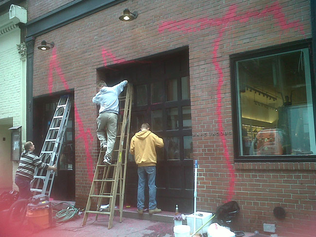 Marc Jacobs store. Photos via styleite.