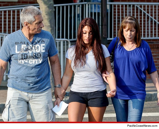 Deena Cortese and her mortified parents.