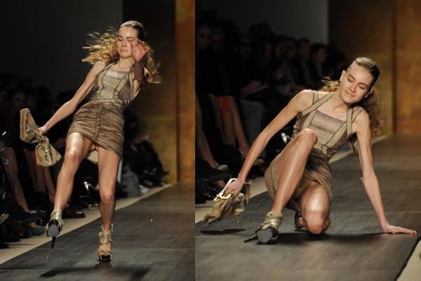 Falling runway model