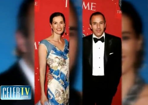 Annette Roque and her hawt bixch husband Matt Lauer